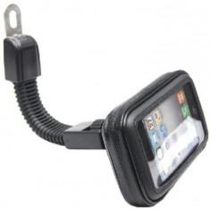 """Suport telefon rotativ, impermeabil, cu brat flexibil, pentru motocicleta, negru, pentru dispozitive de 5,5"""" - 6,5"""""""