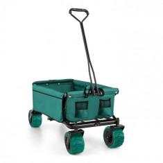 Waldbeck THE GREEN, cărucior de mână, verde, pliabil, 70 kg, 90 l, roți late, 10 cm, verde
