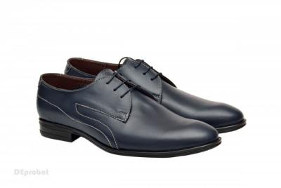 Pantofi barbatesti lucrati manual piele naturala - Editie de LUX-Diverse culori foto