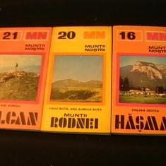 COLECTIA- MUNTII NOSTRII-NR-16-20-21-HASMAS-RODNEI-VILCAN - CU HARTI-, Alta editura