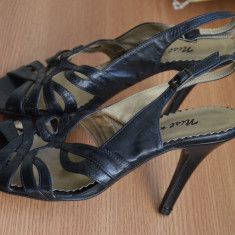 Pantofi LUX piele naturala / Pantofi dama ITALY mar. 37 / Pantofi noi MIST STYLE