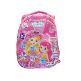Ghiozdan pentru fetite cu imprimeu 3D NN Capsunica GFC1-R, Multicolor