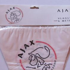 Fanioane-ghirlanda fotbal -AJAX AMSTERDAM (6 metri lungime)