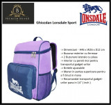 In STOC! Ghiozdan Lonsdale Sport - Original - Dimensiuni H43 x W26 x D12 cm, Mov, Marime universala, Under Armour