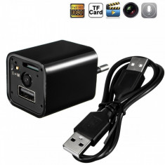 Camera spion incarcator de priza HD USB
