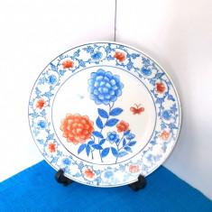 Farfurie portelan Imari style cca. 1880-1920, pictura manuala - marcaj Qianlong