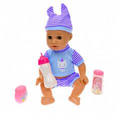 Bebelus de jucarie, cu biberon, pentru copii, roz - L8034A