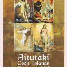 Aitutaki(Cook Islands) 2015 - Pasti, bloc neuzat