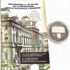 Moneda Ag aniversarea a 130 de ani de la înființarea BNR - 2010