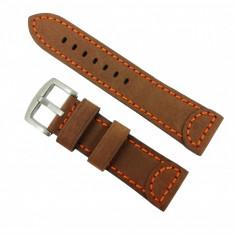 Curea de ceas din piele naturala Maro - 24mm WZ2869