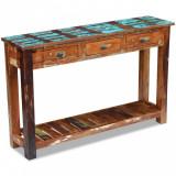 VidaXL Masă consolă, 120x30x76 cm, lemn masiv reciclat