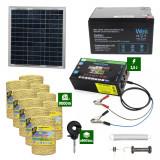 Pachetgard electric cuPanousolar 2,5J putere și9000m Fir160Kgcu acumulator 12Ah