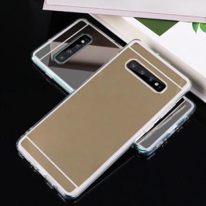 Husa silicon / Gel TPU cu spate oglinda pentru Samsung Galaxy S10