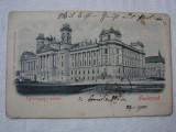 Carte postala circulata la Orsova in anul 1900 - Palatul Justitiei, Budapesta, Ungaria, Printata