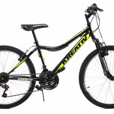Bicicleta Copii Dhs 2404 Negru Galben 24 Inch
