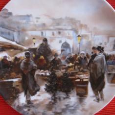 FARFURIE DECORATIVA PORTELAN HEINRICH  DECOR TARG DE CRACIUN
