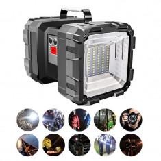 Lanterna Cu Acumulator Functie PowerBank Si Stroboscop Rosu-Albastru W844