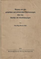 Regulament conducere camioane Wehrmacht armata germana foto