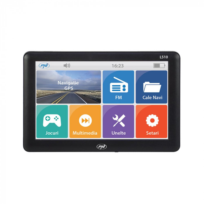 Navigatie GPS Pni 5 inch 8GB Memorie Interna + Harta Europa 2020 Autoturism si TIR Modulator FM