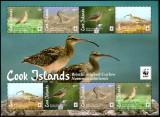 COOK Islands 2017, Fauna Pasari WWF, serie neuzata, MNH, Nestampilat