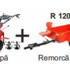 Pachet Motosapa pe benzina MS 7-80-F3 + remorca R 120/140, Breckner