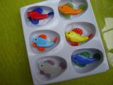 Set de 6 miniaturi din sticla, pestisori