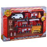 Set de joaca pompieri cu 5 vehicule Motormax