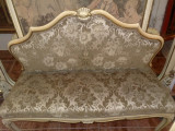 sofa/canapea vintage baroc venetian Italia,lemn,tapiterie brocart