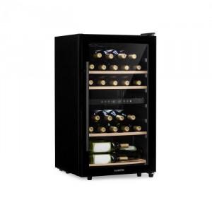 Klarstein Barossa 34D, frigider de vin, 2 zone, 34 de sticle, ușă din sticlă, negru