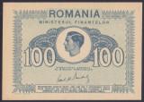 Bancnota Romania 100 Lei 1945 - P78 UNC ( Ministerul Finantelor - Regele Mihai )