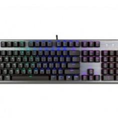 Tastatura Gaming Mecanica Cooler Master CK350 RGB, Blue Outemu, USB (Negru/Argintiu)