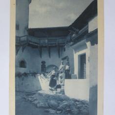 Rara! Carte postala circulata 1927:Regina Maria cu fiicele ei la castelul Bran