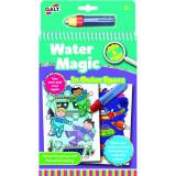 Carte de colorat Spatiu Galt, 6 imagini reutilizabile, 3 ani+