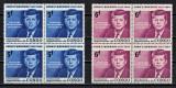 CONGO 1964 - Presedintele Kennedy, In Memoriam (3 imagini)  MNH, Nestampilat