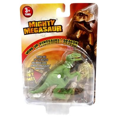 Figurina MIGHTY MEGASAUR, Dinozaur Cu Cheita, Velociraptor - 16902-1 foto