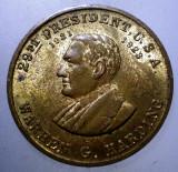 7.799 MEDALIE USA SUA PRESEDINTE WARREN G. HARDING 25,5mm, America de Nord