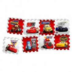 Covor puzzle din spuma Fun Cars 3 Race of a Lifetime 8 piese, Knorrtoys