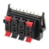 Conector boxe 8 pini, montare pe panou - 123735