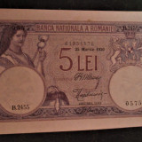 Bancnota Romaneasca...5 lei 1920....inscriptie lunga....aUNC