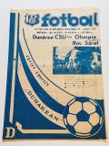 Program meci fotbal DUNAREA CSU GALATI - OLIMPIA RAMNICU SARAT(25.05.1986)