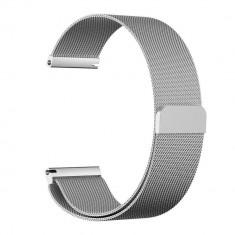 Curea metalica compatibila cu Samsung Gear S3, magnetica, argintiu