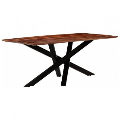 Masă de bucătărie, lemn masiv palisandru, 180x90x77 cm foto