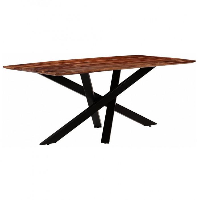 Masă de bucătărie, lemn masiv palisandru, 180x90x77 cm