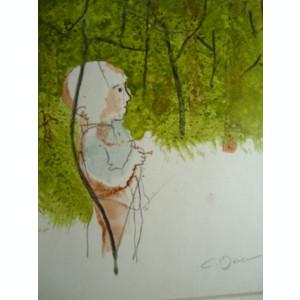 tablou Constantin Baciu - Micul vanator