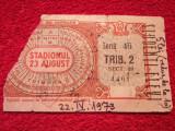 Bilet meci fotbal(vechi-raritate)RAPID Bucuresti-STEAGUL ROSU Brasov(22.04.`73)