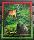 BC41, REP.CENTRAFRICANA, COLITA PRIVATE LOCAL ISSUE, ANIMALE AFRICANE, Nestampilat