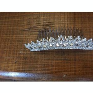 tiara pentru mireasa cu pieptan si cristale