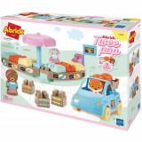 Set de constructie Ecoiffier Abrick Piata Twee Pop cu masina si 3 figurine