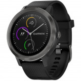 Ceas Smartwatch vivoactive 3, GPS, Slate, curea silicon neagra