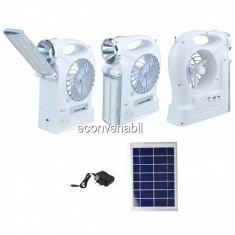 Kit Solar cu Lanterna, Neon, Ventilator, Radio FM si USB YJ5859FSYKT